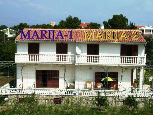 MARIJA-1,2  House for 2 X 8-9 persons (total 16-18 persons). Vrsi-Nin